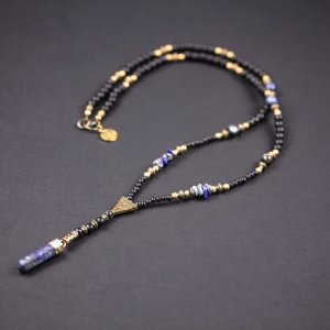 Lapis Stone Beaded Necklace