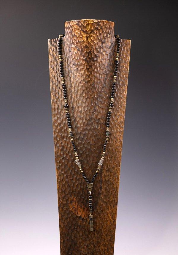 Laboradtie Black & Bronze Long Necklace