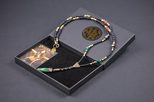 Green Jade & Malachite Beaded Necklace