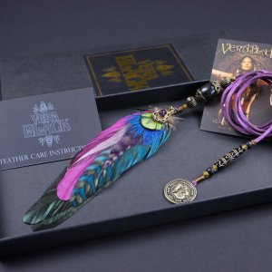 Bohemia Amethyst Feather Hair Braider
