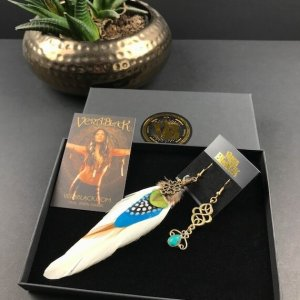 Blue Summer Feather Earrings
