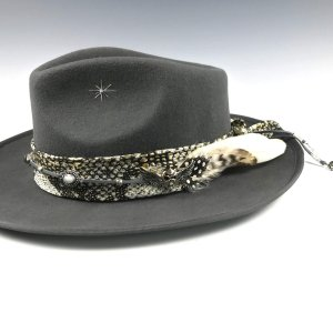 The Silver Back Fedora by Vera Black