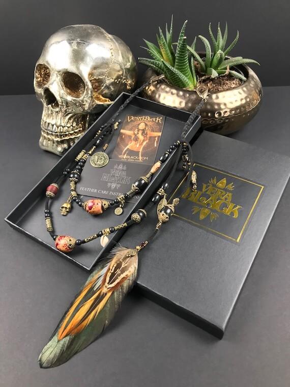 Voodoo Beaded Keychain by Vera Black