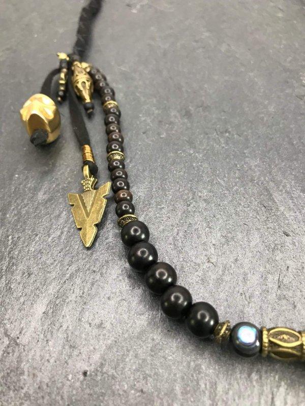 Devil's Eye Beaded Keychain