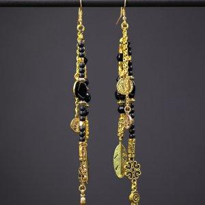 The Black Gold Earring Set