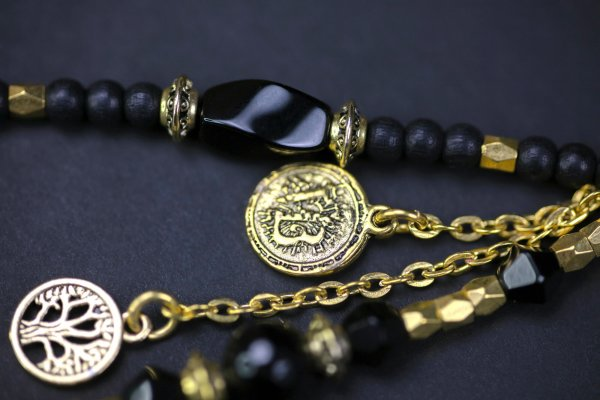 The Black Gold Earring Set