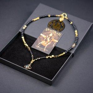 Black & Gold Labradorite Necklace