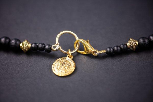 Black & Gold Tiger Eye Necklace